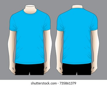 Blue T Shirt For Template