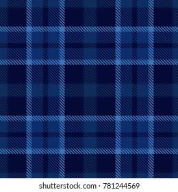 blue tartan plaid seamless design