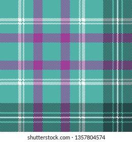 Blue tartan plaid seamless pattern. Vector illustration.
