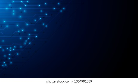 blue technology background with circuit diagram. vector illustration eps10