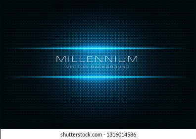 blue technology  millennium vector background