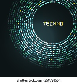 Blue technology round for your logo template. Can be used for business presentation.