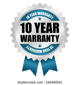 Blue ten years warranty seal