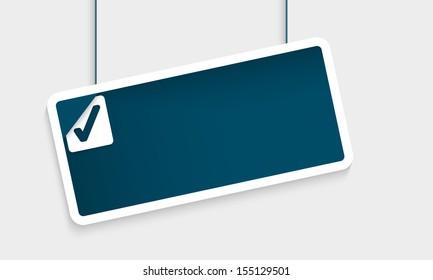 blue text box and check box