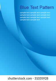 Blue text pattern