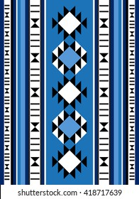 Blue Theme Middle Eastern Rug Pattern From The Arabian Gulf Region