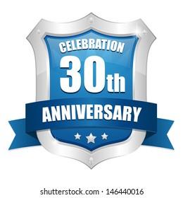 Blue  thirty anniversary seal