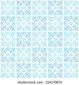 Blue tile background. Seamless pattern.