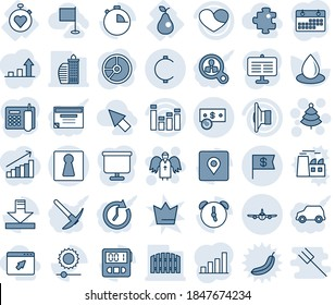 Blue tint and shade editable vector line icon set - female vector, plane, christmas tree, angel, circle chart, water drop, stopwatch heart, pear, speaker, equalizer, alarm, download, brightness, car