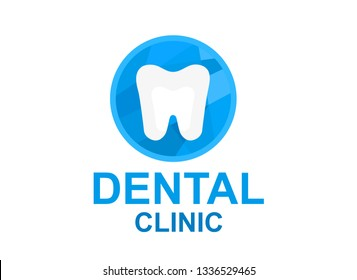 blue tooth logo design illustration symbol for dental care business clinic. hospital icon for healthy smile.