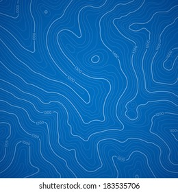 Blue topographic background pattern with topographic or isolines.