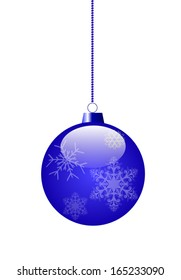 blue Toy for decoration of a Christmas fir-tree. vector EPS 10.