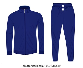 Blue tracksuit. vector illustration