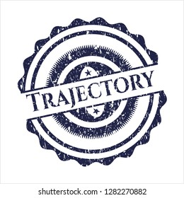 Blue Trajectory distress rubber stamp with grunge texture