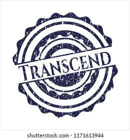 Blue Transcend distress rubber texture