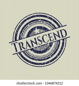 Blue Transcend distressed rubber seal
