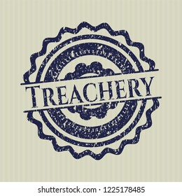 Blue Treachery distress rubber grunge stamp
