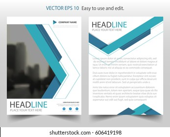 Blue triangle abstract Vector Brochure annual report Leaflet Flyer template design, book cover layout design, abstract business presentation template, a4 size design