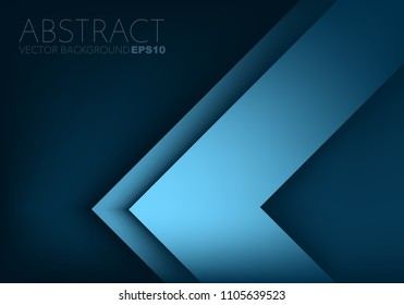 Blue triangle arrow corner vector background overlap layer for design