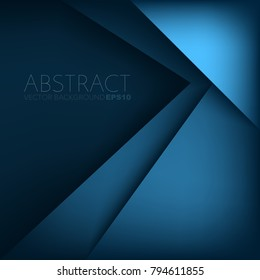 Blue triangle arrow vector background with space for text and background design