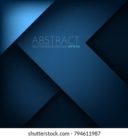 Blue triangle geometric overlap layer background with space for text design