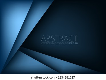 Blue triangle geometric vector background overlap layer on space for background design