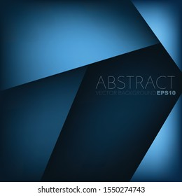 Blue triangle geometric Vector background abstract overlap layer