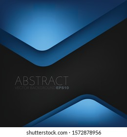 Blue triangle geometric Vector background overlap layer with space for text and background design