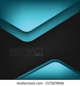 Hintergrund der geometrischen Vektorillustration des blauen Dreiecks überschneidet Schicht für Bereich für Text und Hintergrund