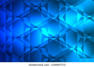 blue triangle and hexagon background