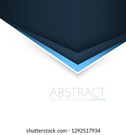 Blue triangle line vector background overlap layer on dark space with white space for background design