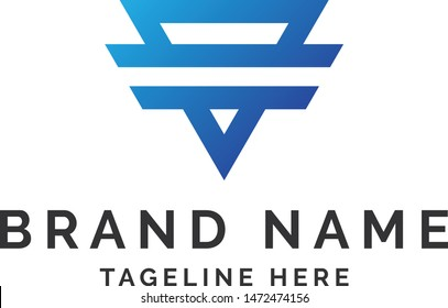 Blue TriAngle Logo Design - this is high resolution,creative and unique Tri Angle company logo.you can use this logo for your company and website