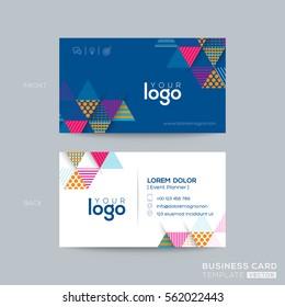 Blue Triangle modern business card design