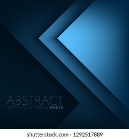 Blue triangle overlap layer vector background design