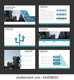 Blue Triangle presentation templates Infographic elements flat design set for brochure flyer leaflet marketing advertising