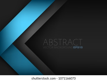 Blue triangle vector background overlap layer with black space for text and background design