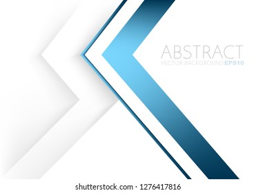 Blue triangle vector background overlap layer on white space for text and background design