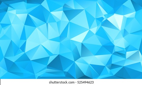 Blue triangular abstract background