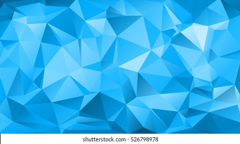 Blue triangular abstract background. Trendy vector illustration.