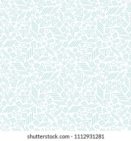 Blue tribal abstract seamless repeat pattern texture. Great for folk modern wallpaper, backgrounds, invitations, packaging design projects. Surface pattern design.