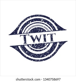 Blue Twit distressed rubber grunge texture seal