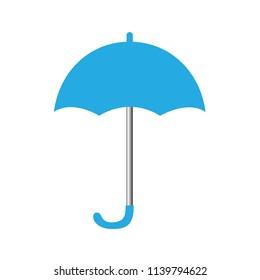 Blue umbrella icon isolated on a white background
