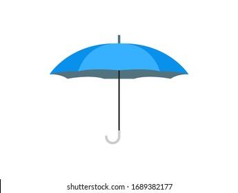 blue umbrella isolated on a white background