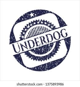 Blue Underdog distress rubber grunge texture stamp