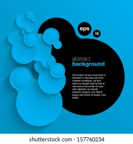blue vector abstract background composed of overlapping circles