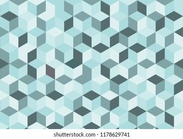 Blue vector abstract  background, geometric background in square style.