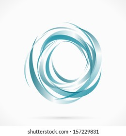 Blue vector abstract circle liquid water illustration