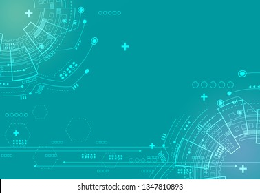 blue vector abstract technology background.
