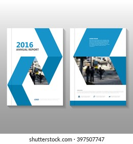 Blue Vector annual report Leaflet Brochure Flyer template design, book cover layout design