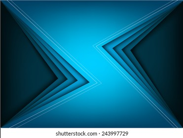 Blue vector background with blue bright angle line overlap layer space for text and message modern artwork design